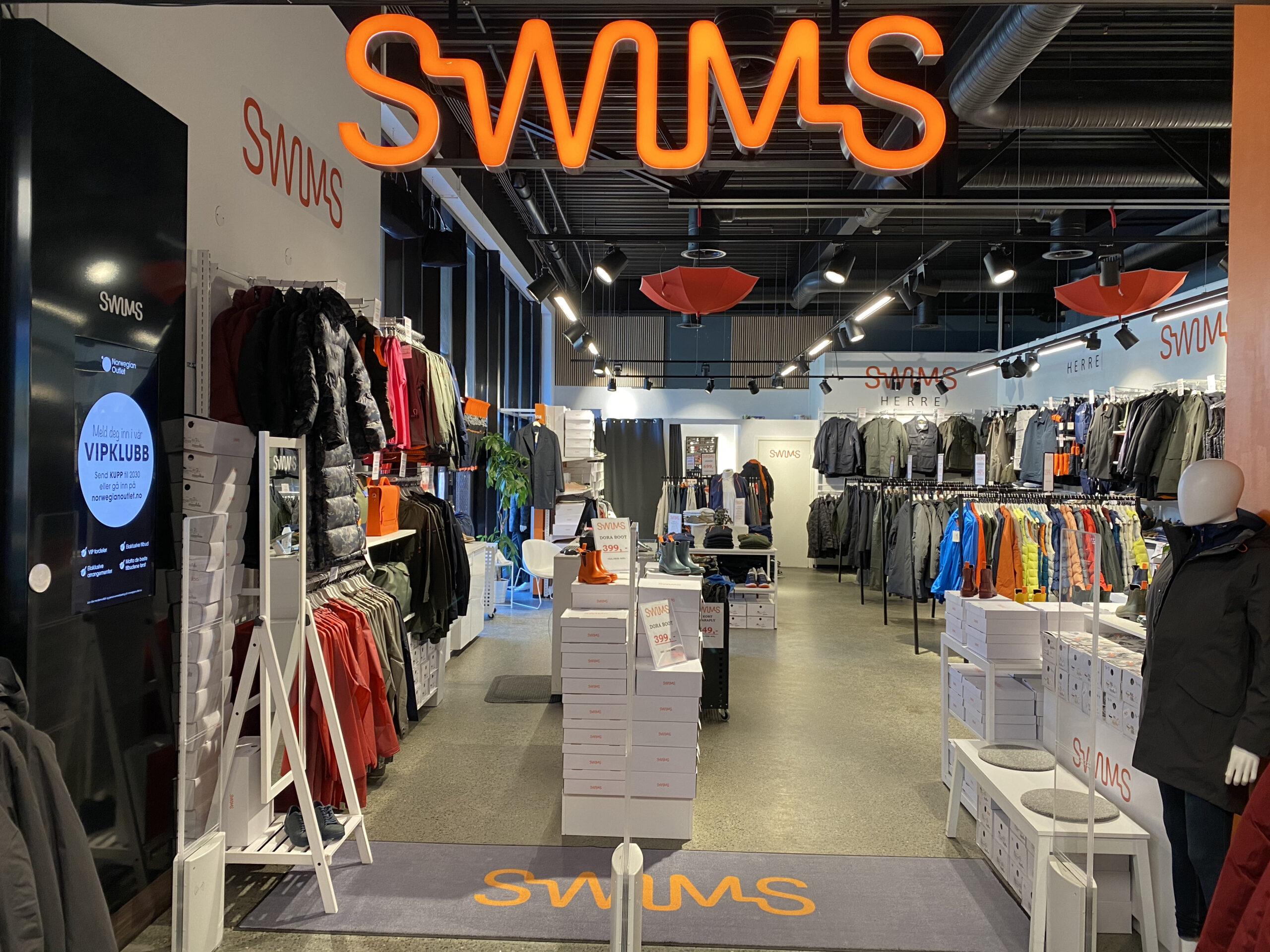 Swims storefront