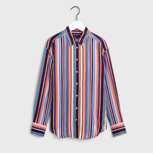 gant multistriped viscose shirt