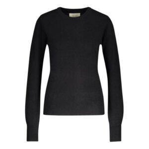 Creative Collective Cashmere R-neck sort dame
