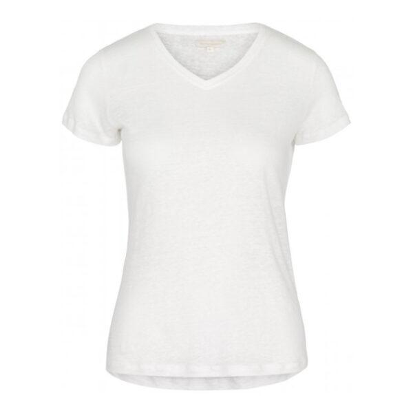 Creative Collective Linen v-neck hvit dame