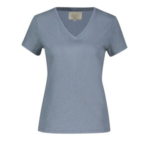 Creative Collective Linen v-neck blå dame