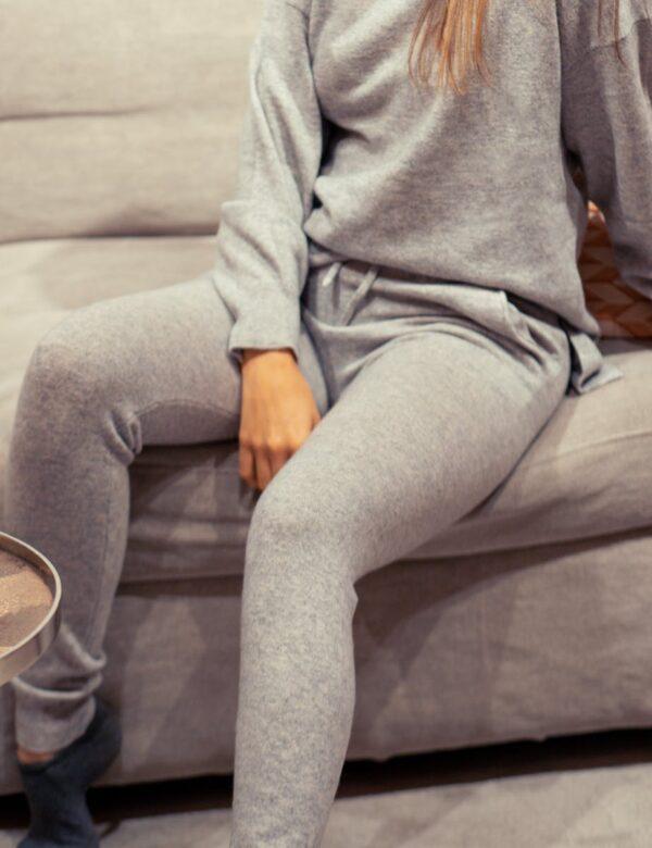 Creative Collective Cashmere Pants grå dame