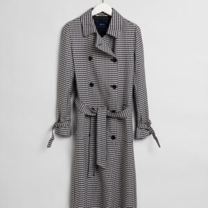 Gant Gingham Fluid Trench Coat Dame