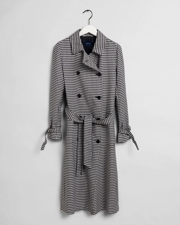 Gant Gingham Fluid Trench Coat Dame
