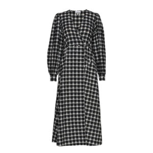 Ganni Seersucker Check Dress